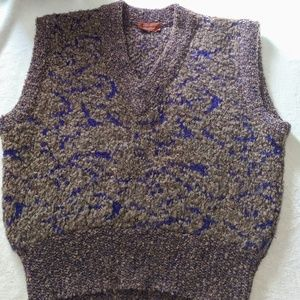 Vintage Missoni Wool Blend Sweater Vest Mens Small